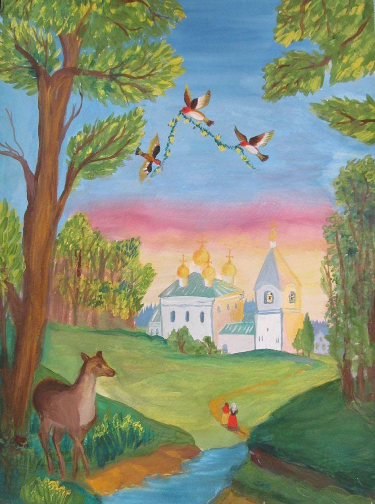 Красота божьего мира рисунки для детей